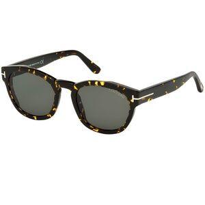Tom Ford Sunglasses Havana w/Green Lens